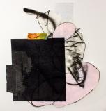 Beach Chair, 2017, mixed technique on paper, 90 x 81 cm