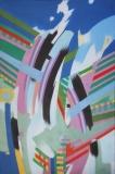 Schlucht, 97x147,Öl auf Lwd, 1972 - Kopie