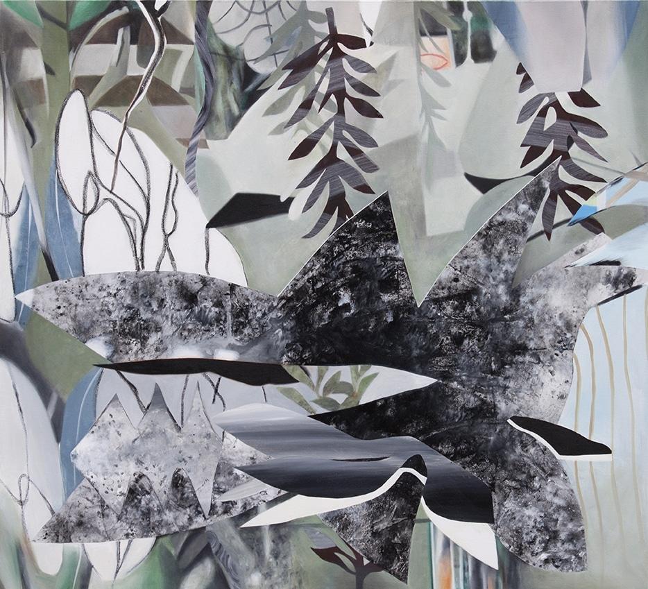Fiona Ackerman, Frost, 2017, 111,5 x 101 cm, Öl und Acryl auf Leinwand