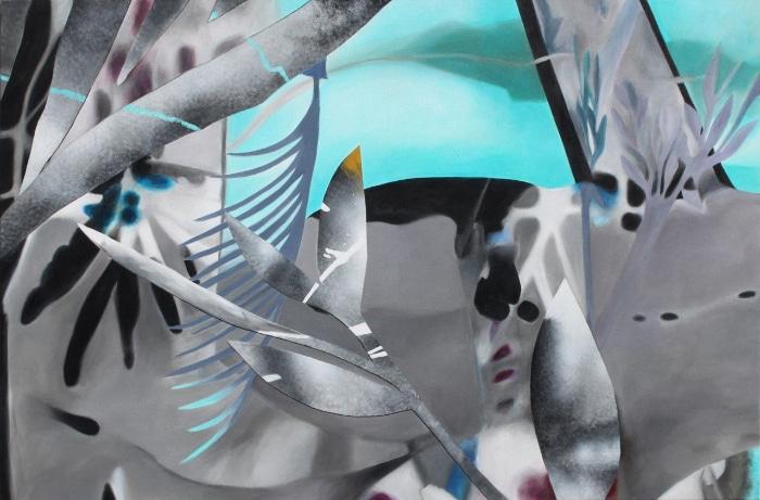 Fiona Ackerman, Elysian Fields 2016, 122 x 183 cm, Acryl auf Leinwand