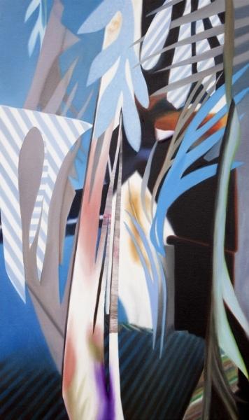 Fiona Ackerman, Fiction Garden, 2016, 81,3 x 48,3 cm, Öl und Acryl auf Leinwand