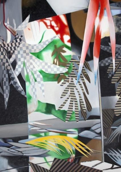 Fiona Ackerman, Between Hare and Hatter (Zwischen Hase und Hutmacher), 2016, Acryl auf Leinwand (acryl on canvas), 86,5,x 60,8 cm