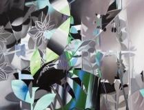 Fiona Ackerman, A Dawn of Shadows, 2016, 99.7 x 130 cm, Öl und Acryl auf Leinwand