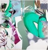Fiona Ackerman, Their Lonely Betters, 2017, 91 x 87 cm, Öl und Acryl auf Leinwand