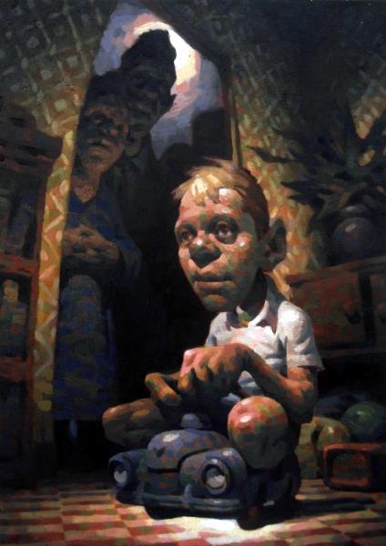 Playtime, Öl auf Leinwand, 50 x 70cm, 2018