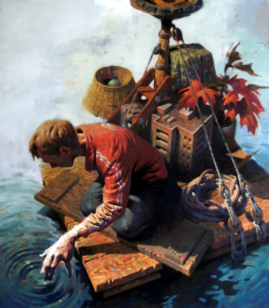 Raft, Öl auf Leinwand, 150 x 170cm, 2017