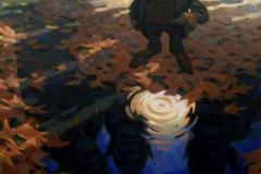 River, Öl auf Leinwand, 90 x 110cm, 2018