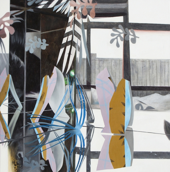Fiona_Ackerman_Studio_Garden_2017_Öl_und_Acryl_auf_Leinwand_91x91_cm