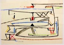 Ernst Weil, o.T., 1956, 43 x 61 cm, Wachskreide auf Papier Kopie