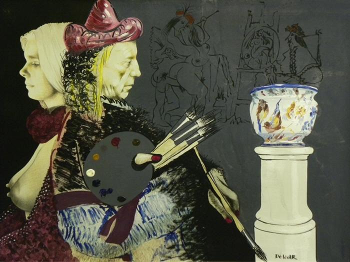 Roland Delcol, 60 x 80 cm o.T., Öl auf Leinwand