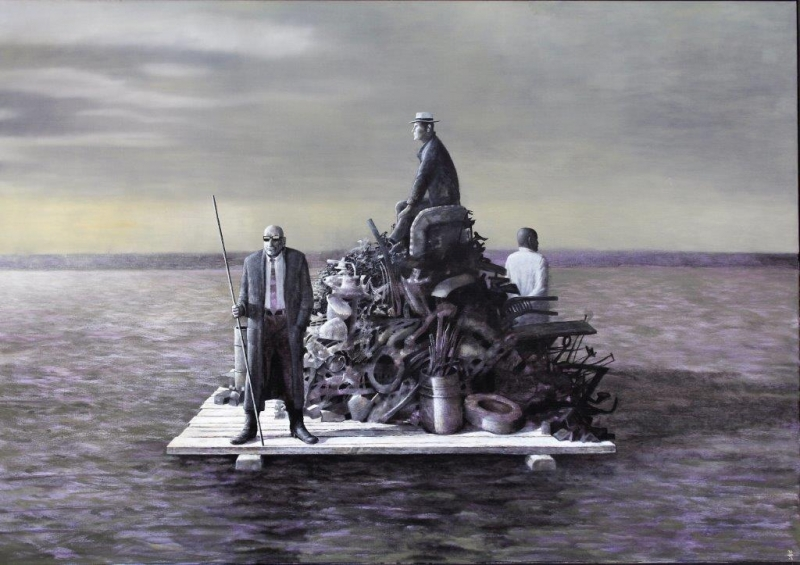 Thom Rauchfuß, Schrott, 2010, 140 x 200 cm, Öl auf Leinwand
