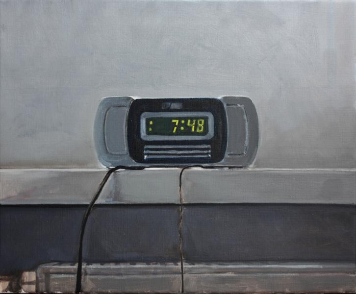 Timur Celik, alarm clock, 45x55 cm 2015