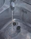 Timur Celik, washbasin, 100 x 80 cm, 2014
