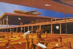 Paul Schwietzke Frischer Wind, 2016, 90 x 170 cm, Acryl auf Leinwand