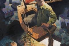 Vitaly Medvedovsky, Sailing, 2016, 180 x 140 cm, Öl auf Leinwand