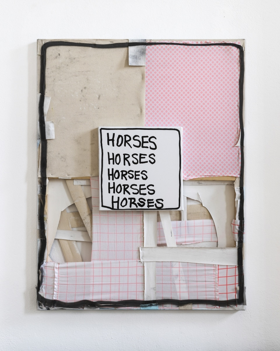 HORSES, HORSES, HORSES, 2018, Mixed Media on Canves, 130 x 100 cm