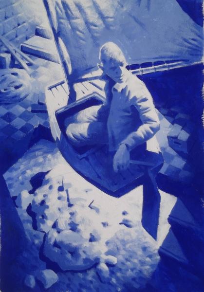 Vitaly Medvedovsky-Boat-48 x 36 cm