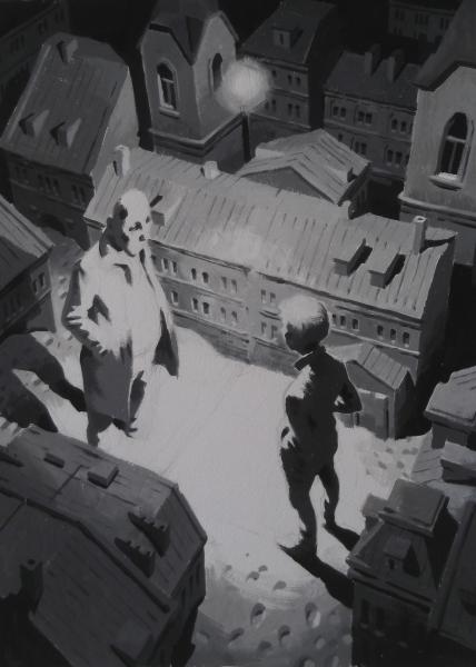 Vitaly Medvedovsky-Full Moon 48 x 36 cm