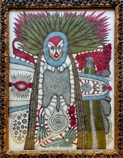 Evelyne Postic, 27x21 cm, Tusche auf Papier