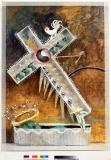 Die Stunde der Hohlkreuzsäger, 1989, mixed Media u. Acryl in Plexiglas, 120x80x20 cm