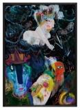 Natascha Mann, White Erzulie, 1982, 60x42,2cm, Acryl hinter Glas Kopie